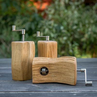 Muskatmühle aus Buchenholz